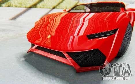 GTA 5 Pegassi Reaper IVF para GTA San Andreas vista interior