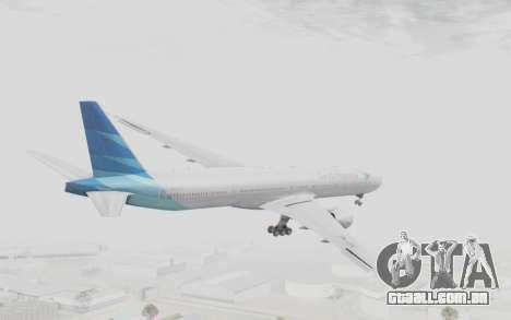 Boeing 777-300ER Garuda Indonesia para GTA San Andreas vista direita