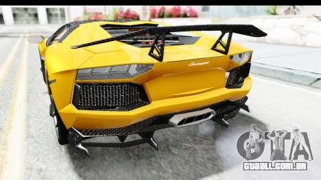 Lamborghini Aventador LP700-4 LB Walk para GTA San Andreas vista inferior