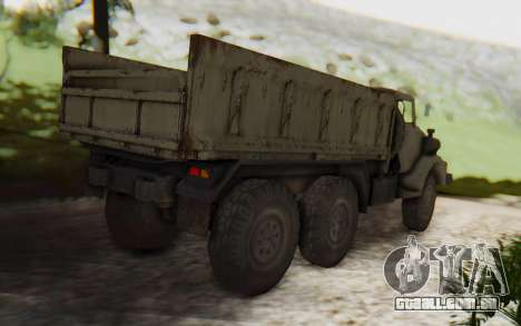 MGSV Phantom Pain Zi-GRA 6T Truck para GTA San Andreas traseira esquerda vista