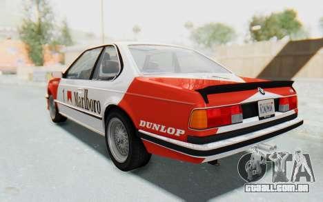BMW M635 CSi (E24) 1984 HQLM PJ1 para GTA San Andreas vista interior