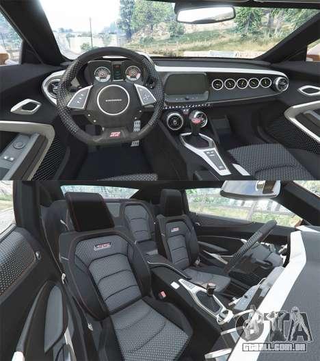 GTA 5 Chevrolet Camaro SS 2016 v2.0 volante