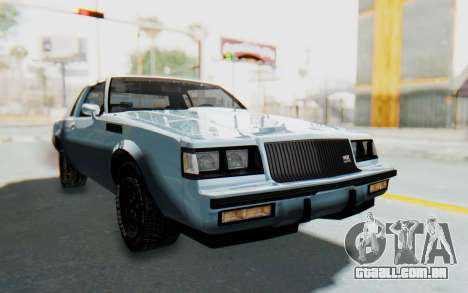 Buick GNX 1987 para GTA San Andreas vista direita
