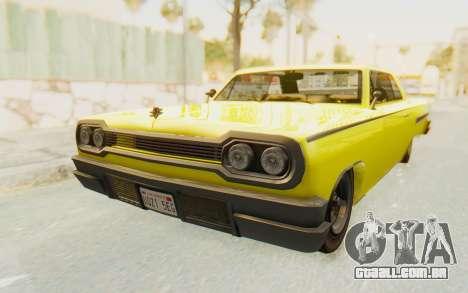 GTA 5 Declasse Voodoo para GTA San Andreas vista direita