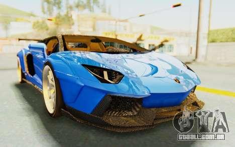Lamborghini Aventador LP700-4 LB Walk Fenders para GTA San Andreas vista traseira