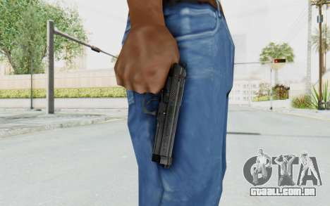 Tariq Iraqi Pistol Back v1 Black para GTA San Andreas terceira tela
