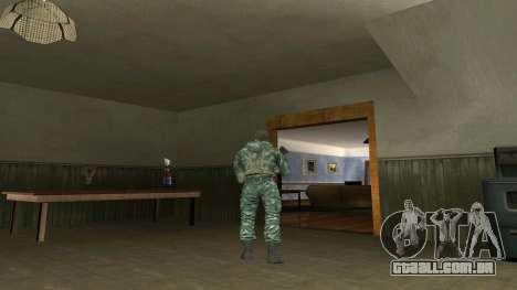 O airborne soldado na camuflagem de bétula para GTA San Andreas segunda tela