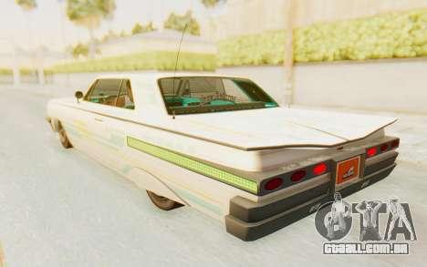 GTA 5 Declasse Voodoo para as rodas de GTA San Andreas
