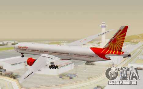 Boeing 777-300ER India Air para GTA San Andreas esquerda vista