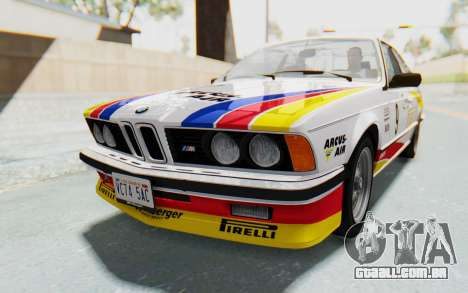 BMW M635 CSi (E24) 1984 HQLM PJ1 para GTA San Andreas vista inferior