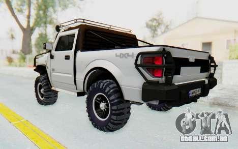 Hummer H2 para GTA San Andreas esquerda vista