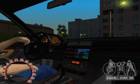 BMW 740i E38 para GTA San Andreas vista interior