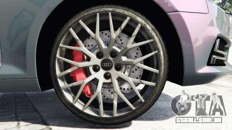 GTA 5 Audi A4 2017 [add-on] v1.1 vista lateral direita