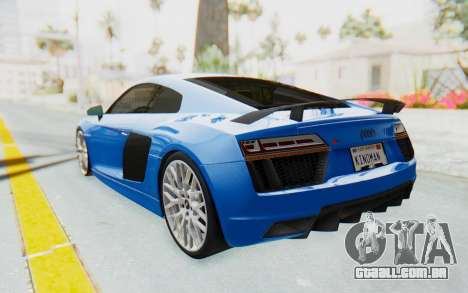 Audi R8 V10 Plus 2017 para GTA San Andreas vista interior