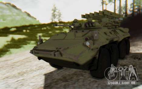 MGSV Phantom Pain ZHUK APC Tank para GTA San Andreas traseira esquerda vista