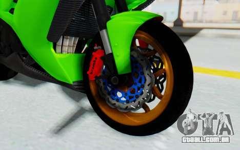 Kawasaki Ninja 250 Abs Streetrace para GTA San Andreas vista traseira