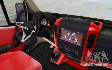 Iveco Daily Minibus 2015 para GTA San Andreas vista traseira