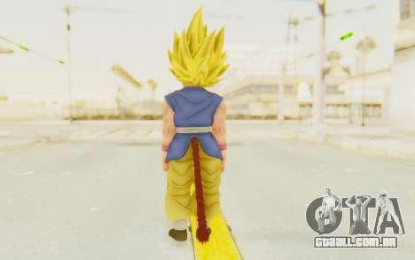 Dragon Ball Xenoverse Goku Kid GT SSJ para GTA San Andreas terceira tela