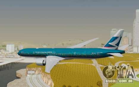 Boeing 777-300ER Cathay Pacific Airways v2 para GTA San Andreas vista direita