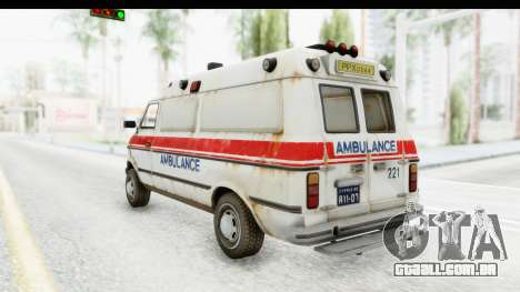 MGSV Phantom Pain Ambulance para GTA San Andreas esquerda vista