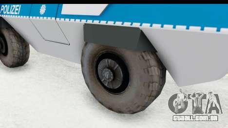 Hermelin TM170 Polizei para GTA San Andreas vista traseira
