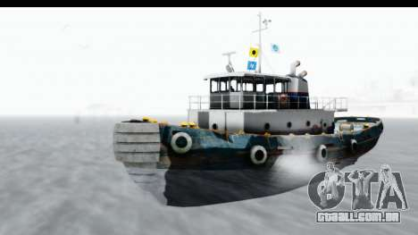 GTA 5 Buckingham Tug Boat v1 para GTA San Andreas vista direita
