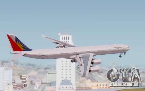 Airbus A340-600 Philippine Airlines para GTA San Andreas vista direita