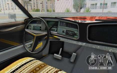 Buick Riviera 1972 Boattail Lowrider para GTA San Andreas vista interior