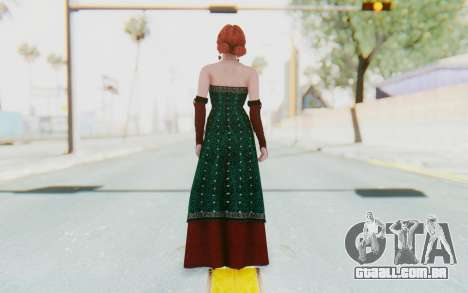 The Witcher 3 - Triss Merigold Dress para GTA San Andreas terceira tela