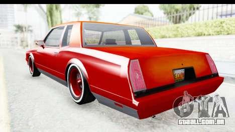 Chevrolet Monte Carlo Breaking Bad para GTA San Andreas esquerda vista