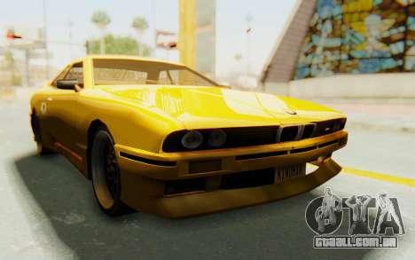 Elegy E30 para GTA San Andreas vista traseira