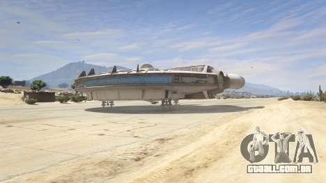 GTA 5 Star Wars Millenium Falcon 5.0 quarto screenshot