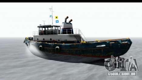 GTA 5 Buckingham Tug Boat v1 para GTA San Andreas traseira esquerda vista