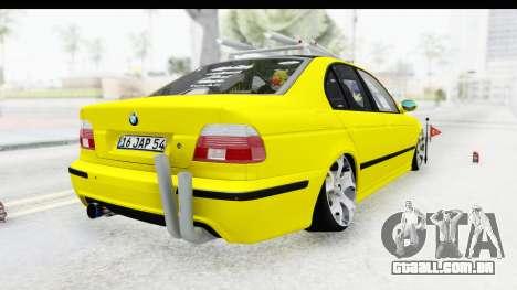 BMW M5 E39 para GTA San Andreas traseira esquerda vista