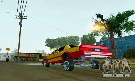 New Tahoma from GTA 5 para GTA San Andreas traseira esquerda vista