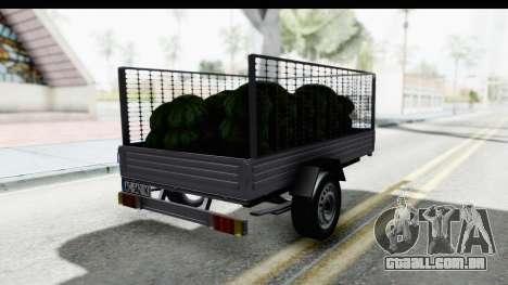 Volkswagen T4 Trailer para GTA San Andreas traseira esquerda vista
