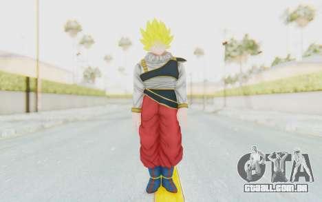 Dragon Ball Xenoverse Goku Yardrat Clothes SSJ para GTA San Andreas segunda tela