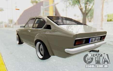 Opel Kadett C Coupe para GTA San Andreas esquerda vista
