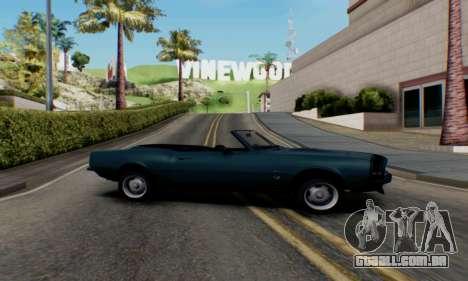 Chevrolet 369 Camaro SS para GTA San Andreas esquerda vista