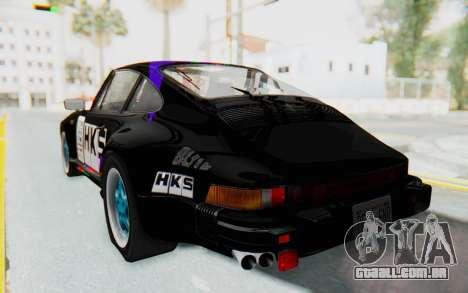 Porsche 911 Turbo 3.2 Coupe (930) 1985 para GTA San Andreas vista inferior