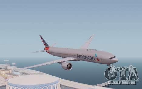 Boeing 777-300ER ANA JA755A - Gundam para GTA San Andreas traseira esquerda vista