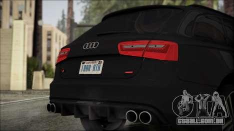 Audi S6 para GTA San Andreas vista traseira