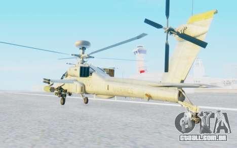 AH-64 Apache Marines para GTA San Andreas traseira esquerda vista