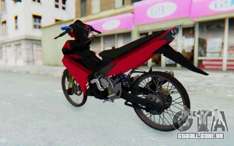 Yamaha Jupiter MX 135 Lock Style para GTA San Andreas esquerda vista