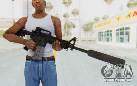 Assault M4A1 Silenced para GTA San Andreas terceira tela