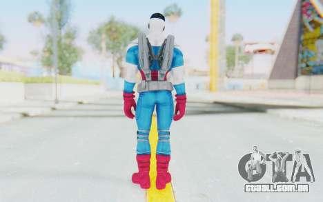 Marvel Heroes - Capitan America Sam Wilson para GTA San Andreas terceira tela