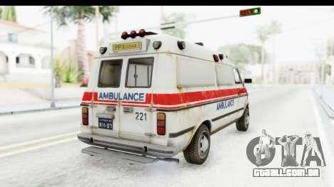 MGSV Phantom Pain Ambulance para GTA San Andreas vista direita