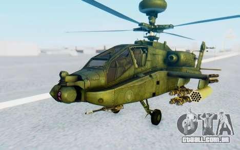 AH-64 Apache para GTA San Andreas