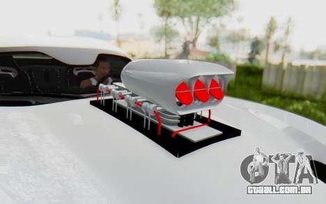 Dodge Viper SRT GTS 2012 Monster Truck para GTA San Andreas vista traseira