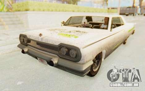 GTA 5 Declasse Voodoo Alternative v2 PJ para GTA San Andreas vista superior